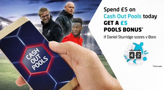 £5 Bonus if Sturridge Scores