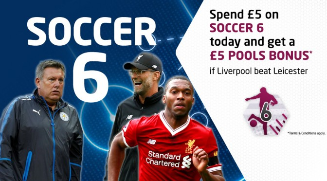 £5 Bonus if Liverpool beat Leicester