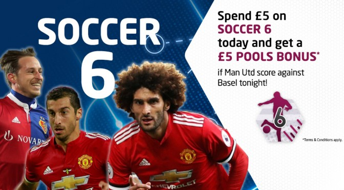 £5 Bonus if Man Utd score past Basel tonight!