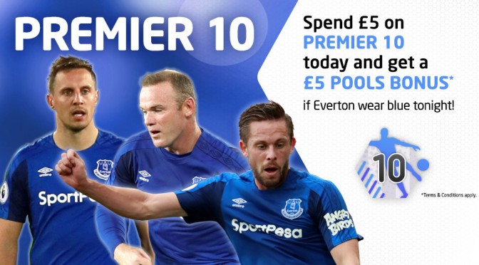£5 Bonus if Everton wear Blue at home tonight!