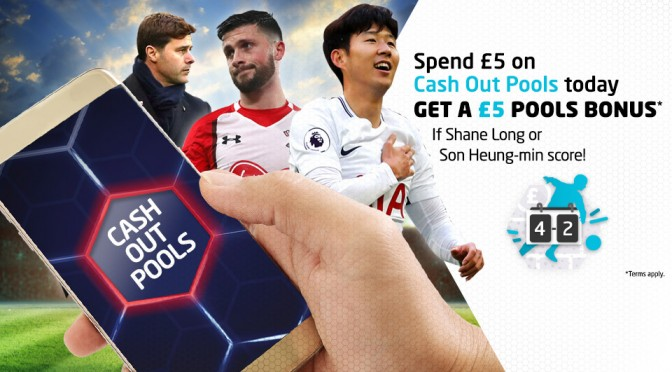 £5 Pools Bonus if Shane Long or Son Heung-min scores today!