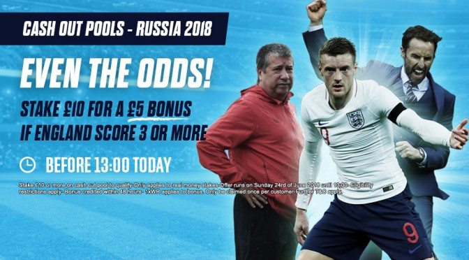 £5 Bonus with 3 or more England Goals!